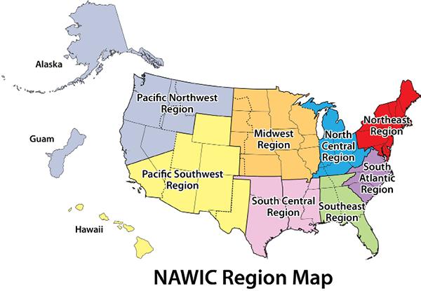 NAWIC Region Map