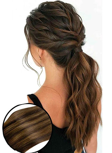 Straight Ponytail Color 1B + 2, 100 grams