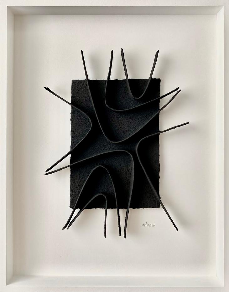 René Galassi Calicots et pigment 2020 Pigment auf handgeschöpftem Papier 70 x 55 cm