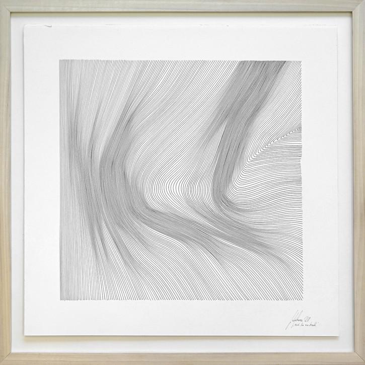 John Franzen Each Line one Breath 2017 Fineliner auf Papier 53 x 53 cm