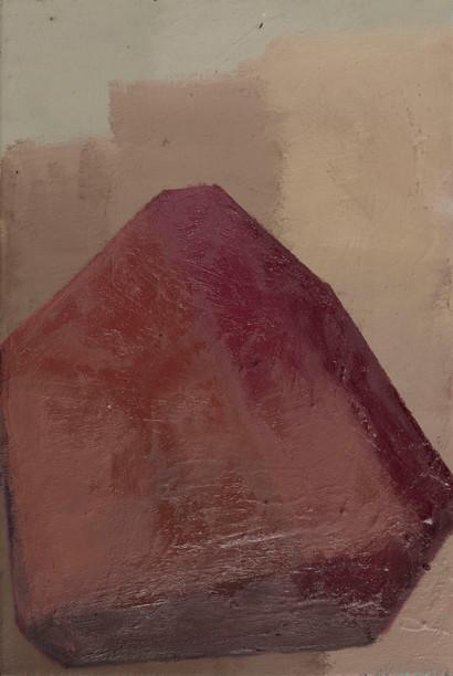 Jewel rubeutite 2019 Eitempera, Öl und Pigmente auf Leinwand 36 x 24 cm
