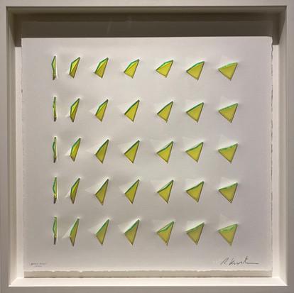 Ralph Kerstner Green Dream 2021 Unikat 55 x 55 cm