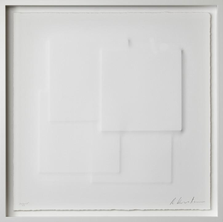 Ralph Kerstner Konkret 2020 Prägung in Büttenpapier 55 x 55 cm 7 Ex.