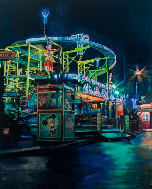 Cameron Rudd Wilde Maus 2014 Öl auf Leinwand 250 x 200 cm