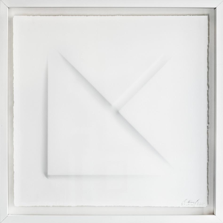 Ralph Kerstner Triang 2015 Prägung in Büttenpapier 50 x 50 cm