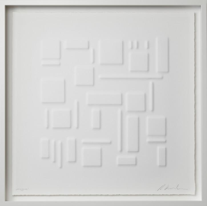 Ralph Kerstner White Journey 2020 Prägung in Büttenpapier 55 x 55 cm 7 Ex.