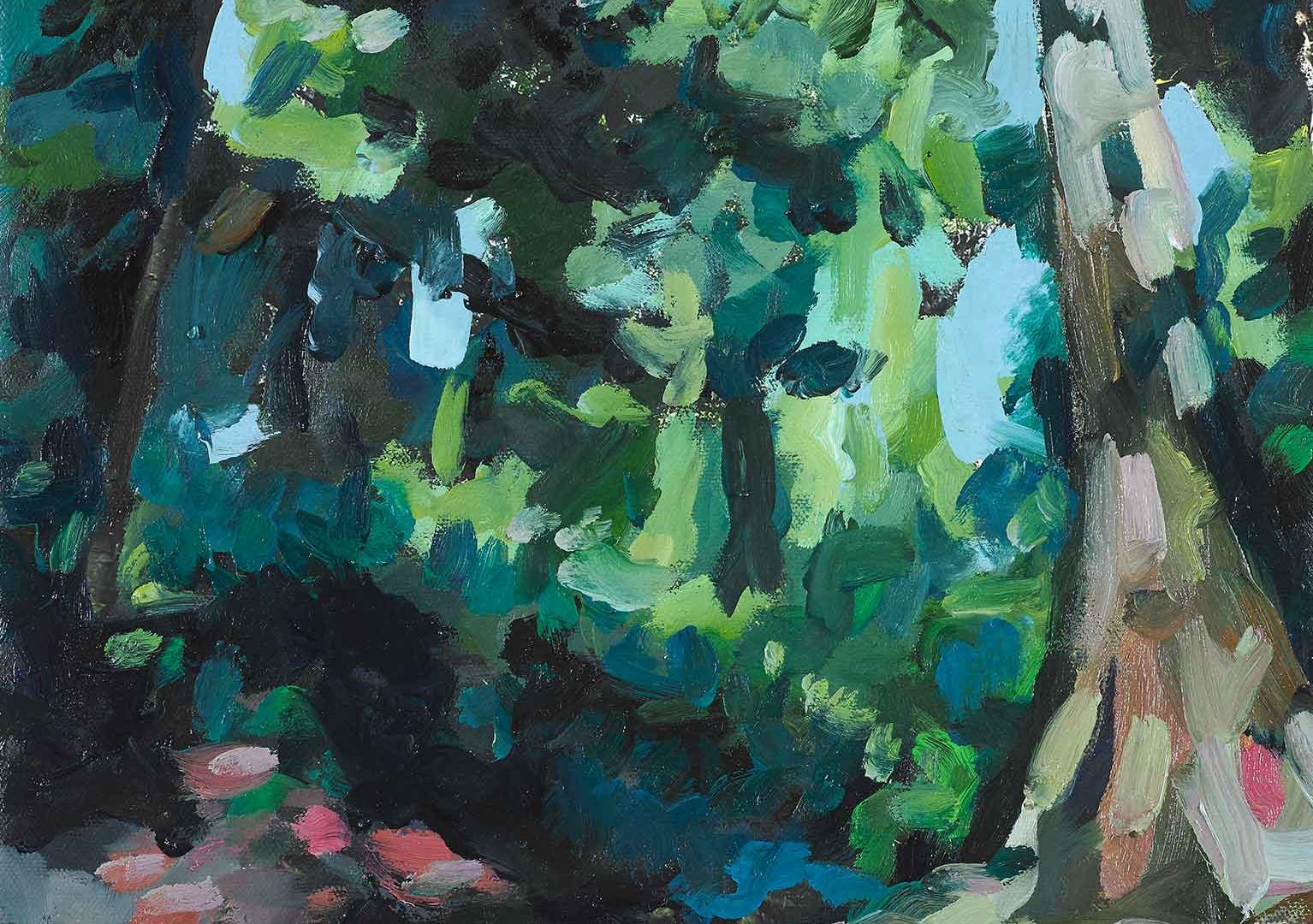 Felix Eckardt Green embrace 2019 Mischtechnik auf Leinwand 43,5 x 32 cm