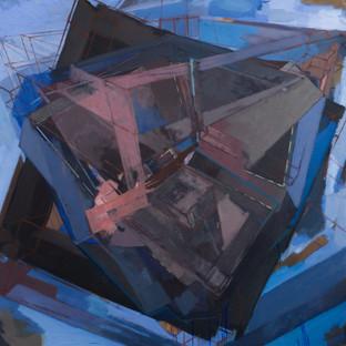 Hypestine 2019 Eitempera, Öl und Pigmente auf Leinwand 140 x 140 cm