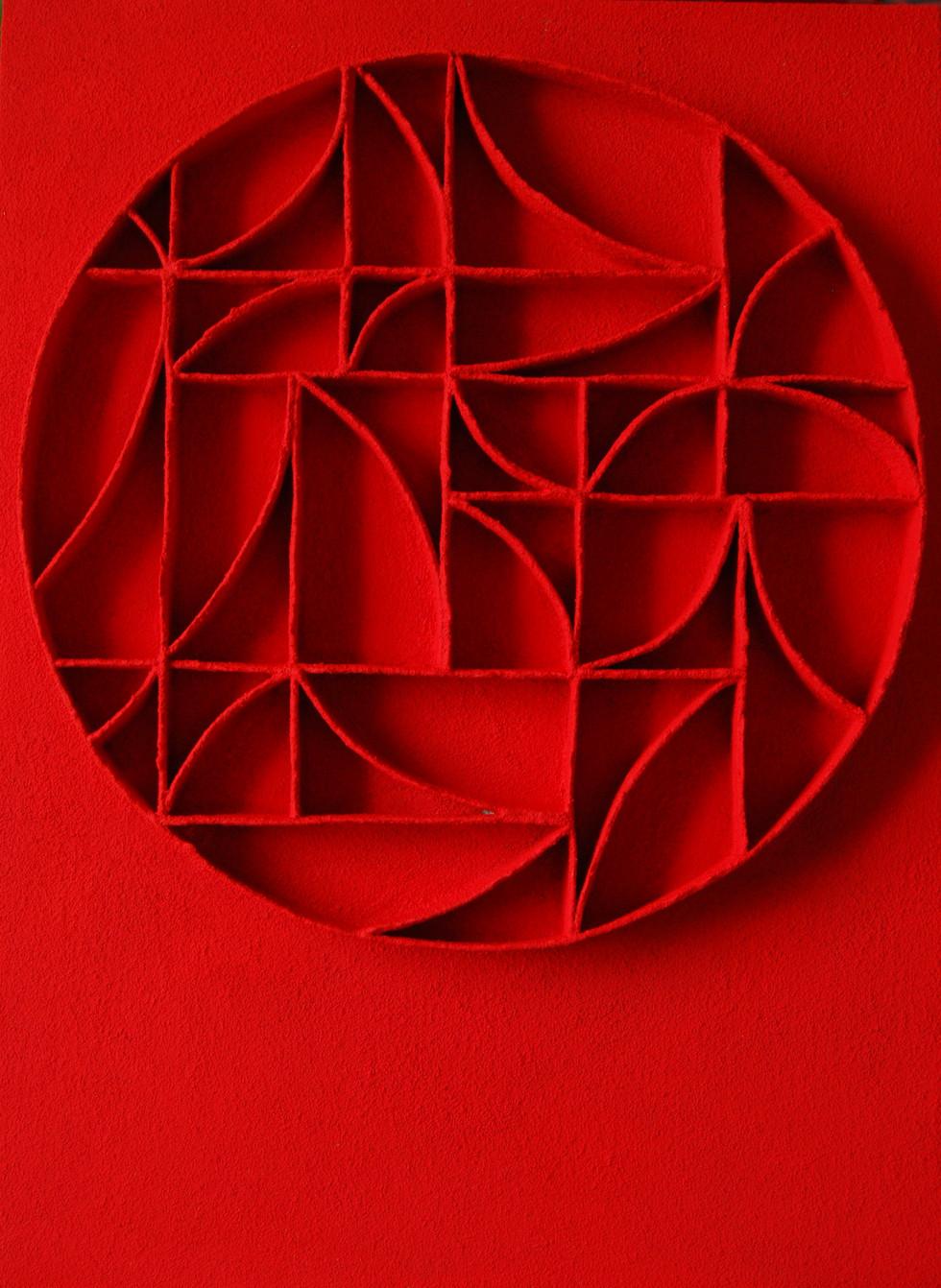 Calicot et pigments N°12 handgeschöpftes Papier, Pigmente 130 x 100 cm - verkauft