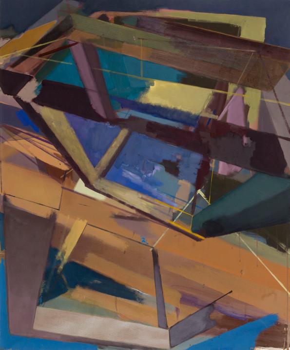 Dispar II 2019 Eitempera, Öl und Pigmente auf Leinwand 120 x 100 cm