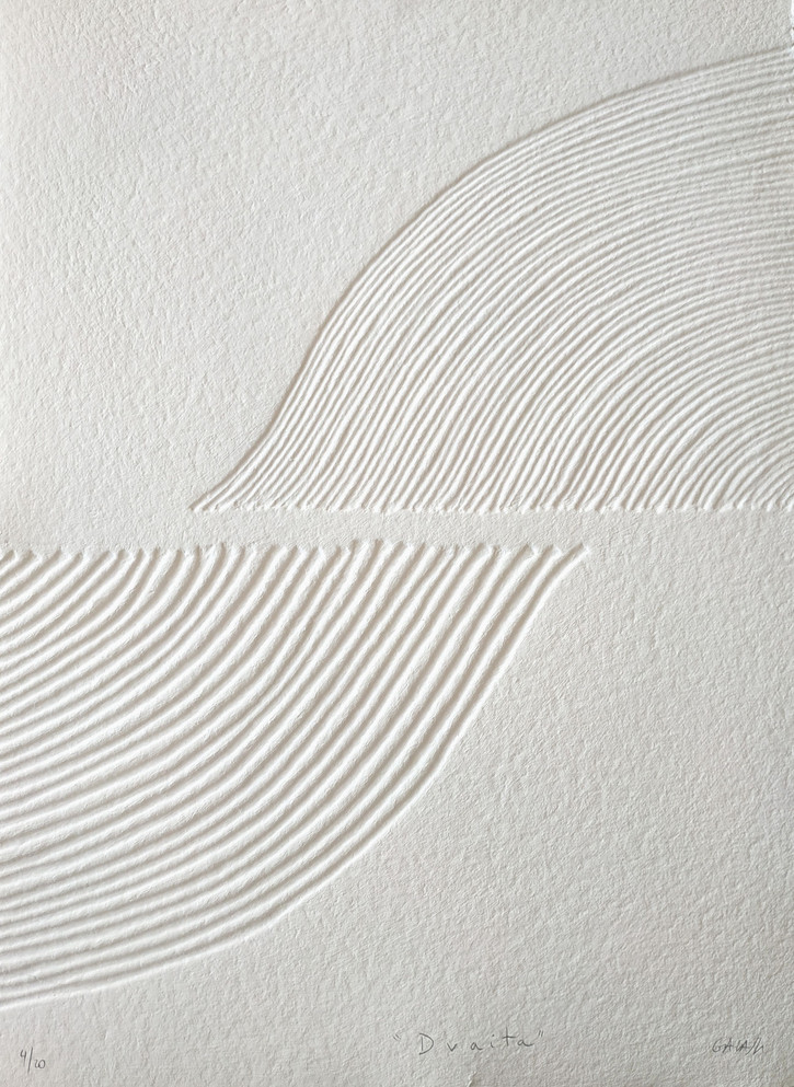 Dvaita, Original-Druckgrafik, 20 Ex., 77 x 56 cm, verso sign. & num.