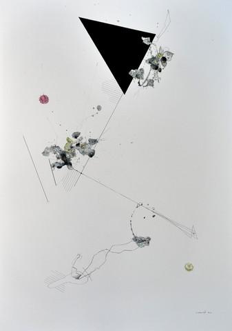Weiße Balance III 2018 Aquarell, Acryl, Pigmenttusche auf Papier 100 x 70 cm