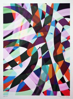 Peer Kriesel FRTZN ABSTRACTN no 284 2019 Pigmentdruck auf Papier 36 x 26 cm