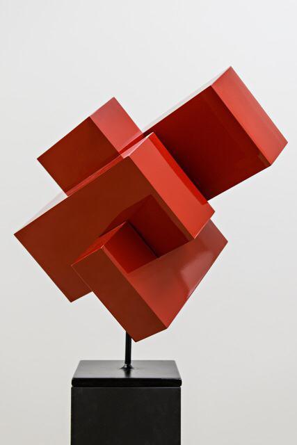 Ralph Kerstner Monza (rot) 2015 Stahlskulptur 60 x 50 x 60 cm