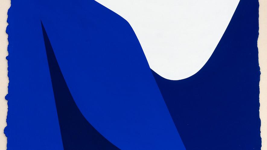 René Galassi Lignes urbaines 2019 Acryl auf handgeschöpftem Papier 52 x 38 cm