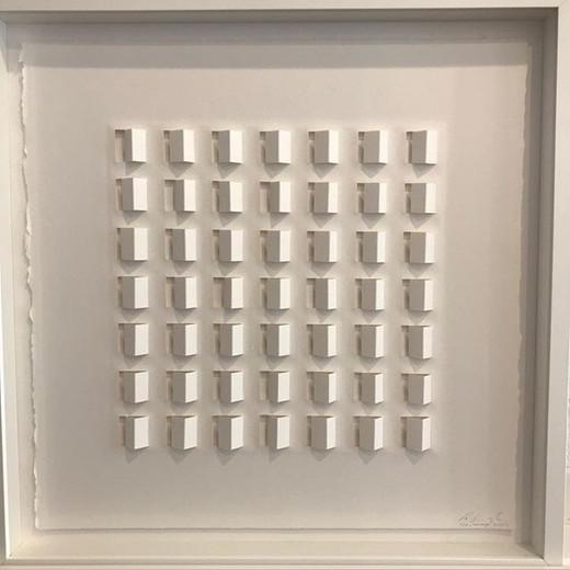 Ralph Kerstner Homeage 2016 Prägung in Büttenpapier 50 x 50 cm 2/25