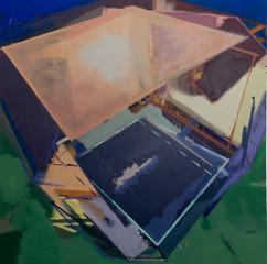 Juno base I 2019 Eitempera, Öl und Pigmente auf Leinwand 80 x 80 cm
