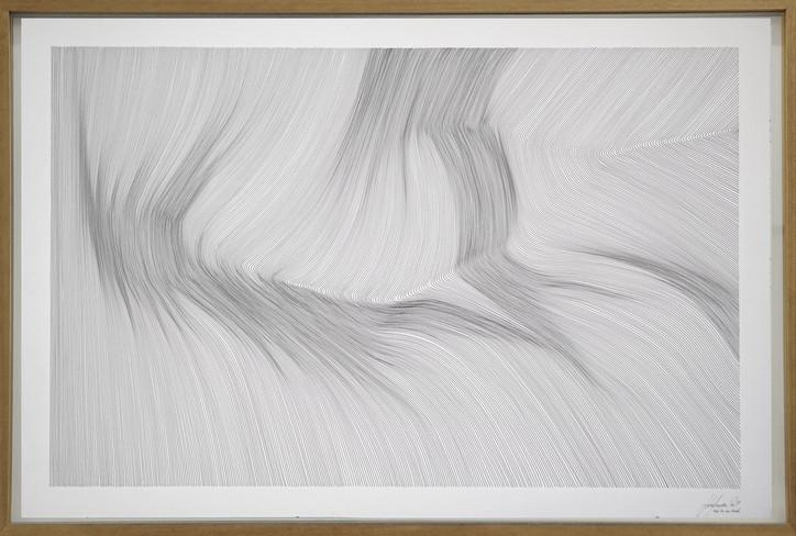 John Franzen Each Line one Breath 2019 Fineliner auf Papier 85 x 125 cm