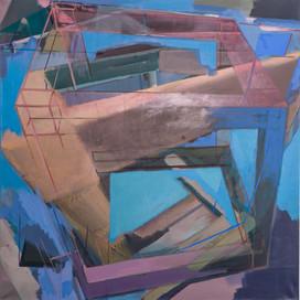 Bipolar affinity k9 2019 Eitempera, Öl und Pigmente auf Leinwand 100 x 100 cm