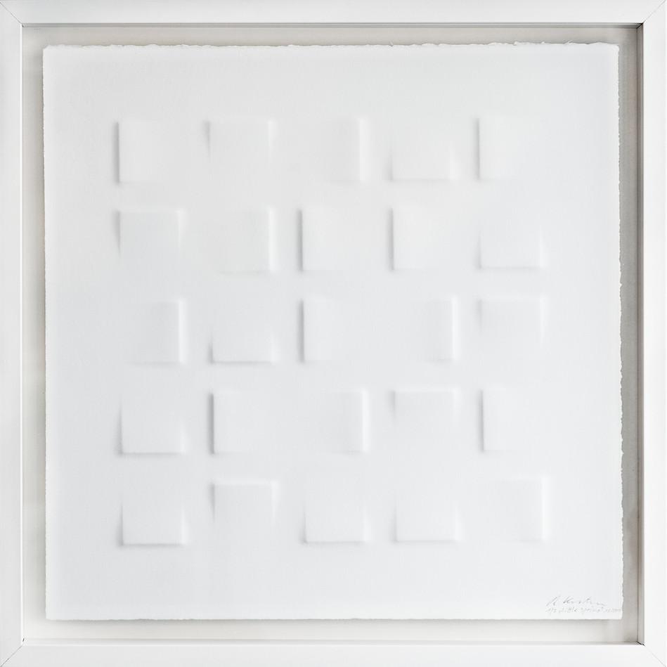 Ralph Kerstner Little Spring 2015 Prägung in Büttenpapier 50 x 50 cm