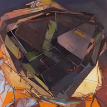 D twostep 2019 Eitempera, Öl und Pigmente auf Leinwand 120 x 120 cm