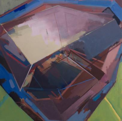 Juno base II 2019 Eitempera, Öl und Pigmente auf Leinwand 80 x 80 cm