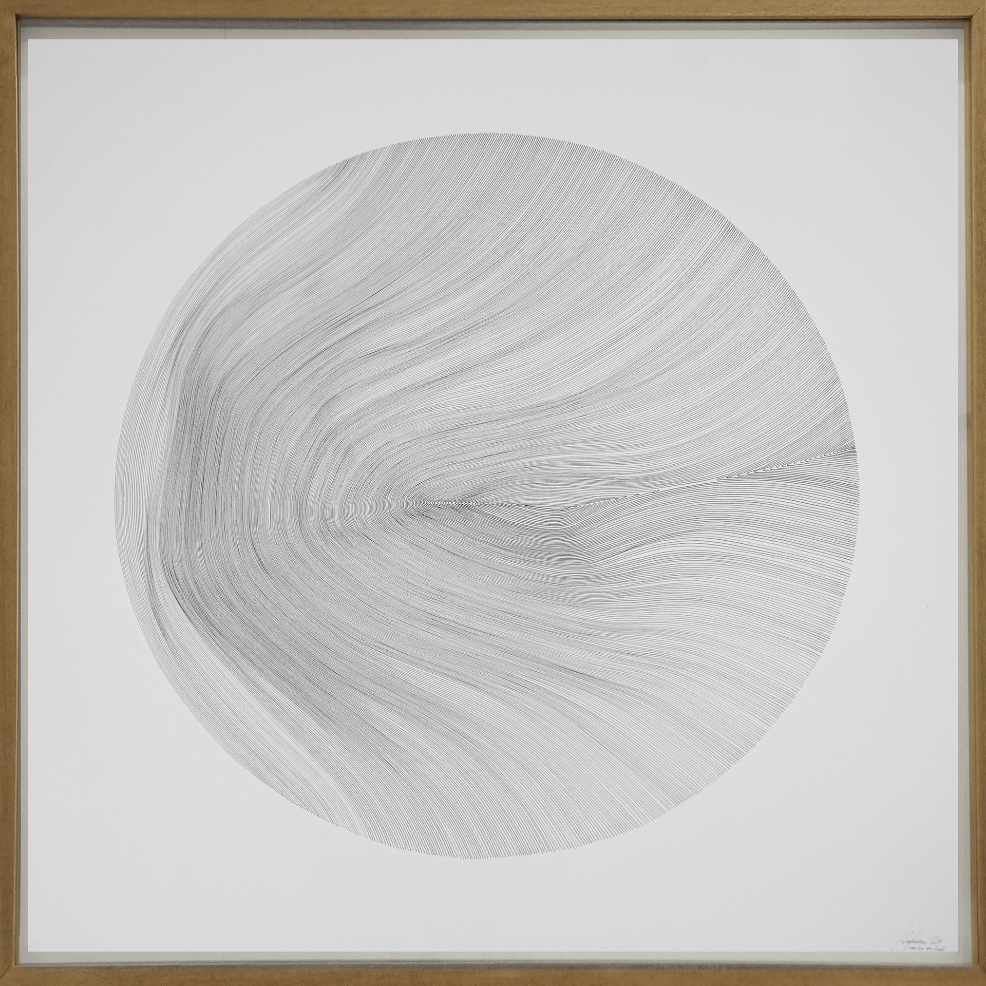 John Franzen Each Line one Breath 2019 Fineliner auf Papier 100 x 100 cm