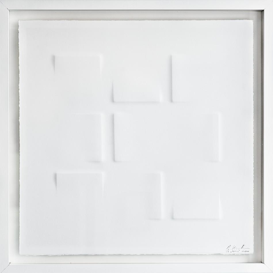 Ralph Kerstner Spring 2015 Prägung in Büttenpapier 50 x 50 cm