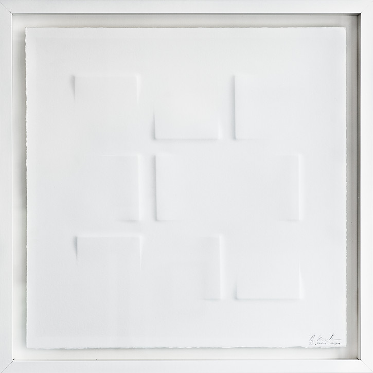 Ralph Kerstner Spring 2015 Prägung in Büttenpapier 55 x 55 cm 7 Ex.