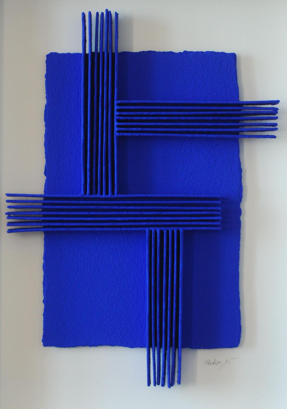 Calicots et Pigments #25 handgeschöpftes Papier, Pigmente 86 x 66 cm - verkauft