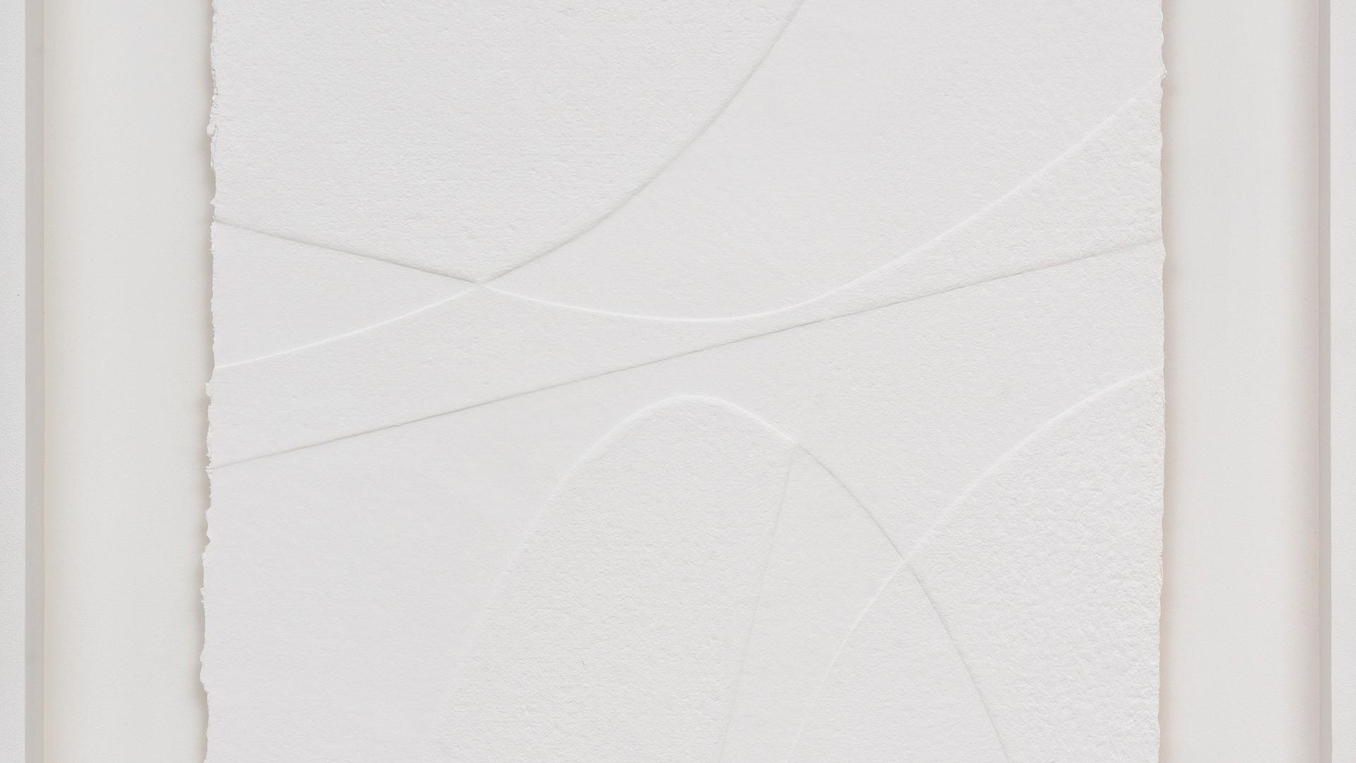 René Galassi Lignes géometriques - Esala 2019 Prägedruck auf handgeschöpftem Papier 20 Ex. 87 x 72 cm - verkauft
