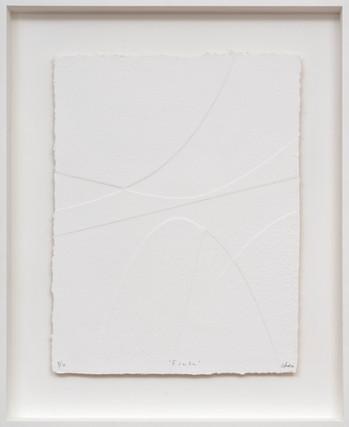 René Galassi Esala 2019 Prägedruck auf handgeschöpftem Papier 20 Ex. 87 x 72 cm