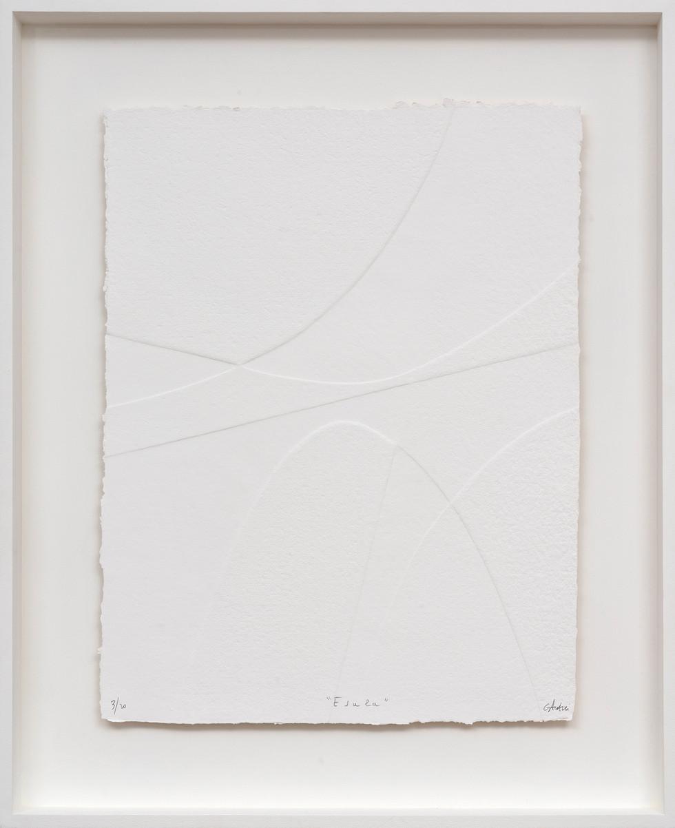 Lignes géometriques - Esala 2019 Prägedruck auf handgeschöpftem Papier 20 Ex. 87 x 72 cm - verkauft
