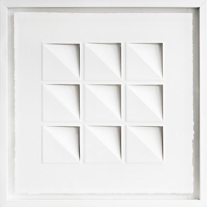 Ralph Kerstner Try Angle 2015 Prägung in Büttenpapier 55 x 55 cm