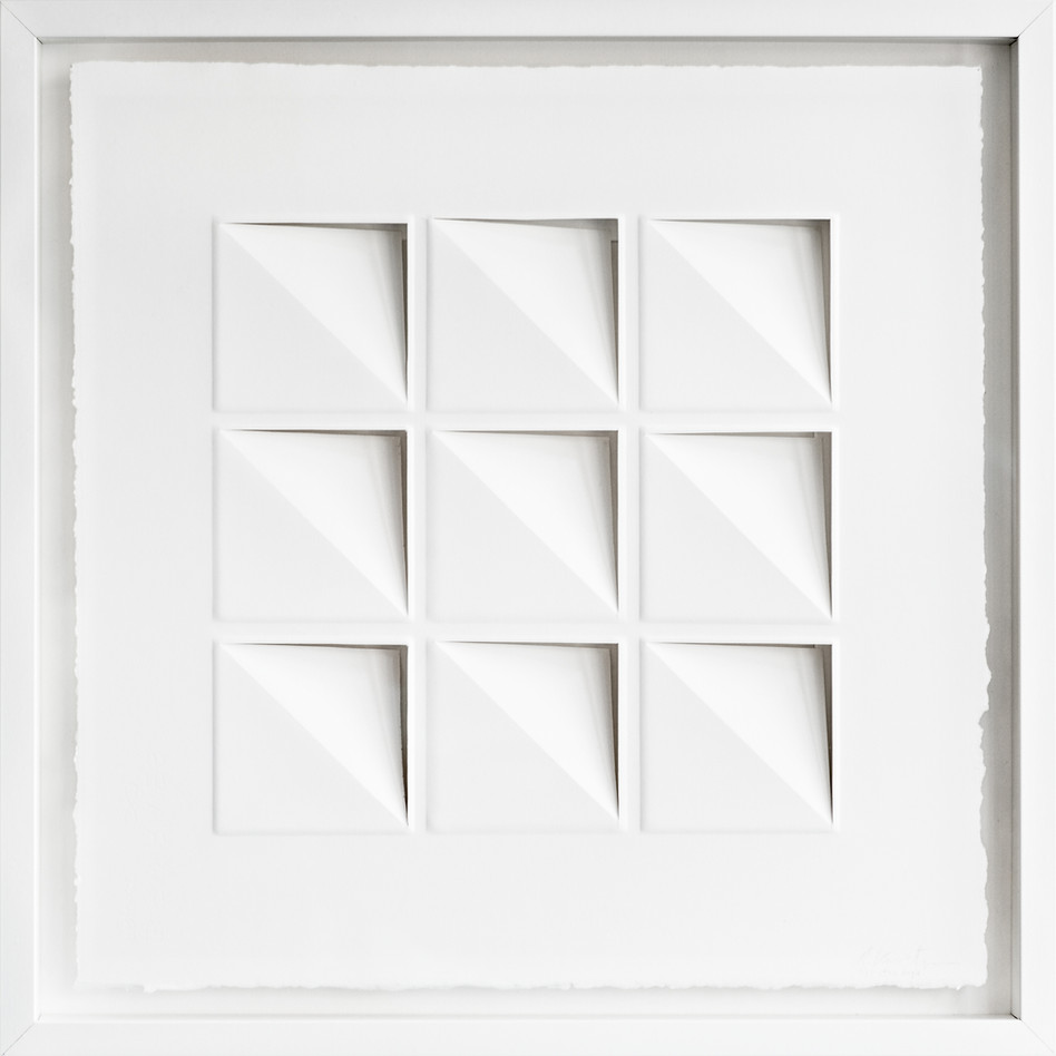 Ralph Kerstner Try Angle 2015 Prägung in Büttenpapier 55 x 55 cm - verkauft -