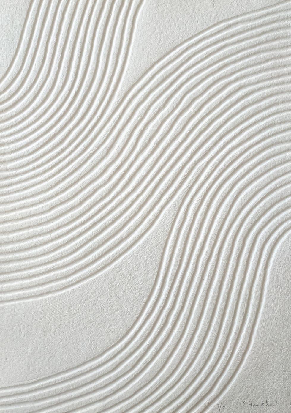 Hankha Papierreliefabdruck, 20 Ex., 77 x 56 cm, verso sign. & num. - verkauft -