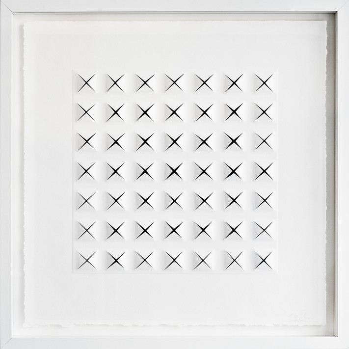 Ralph Kerstner Q-Star 2015 Prägung in Büttenpapier 50 x 50 cm - verkauft