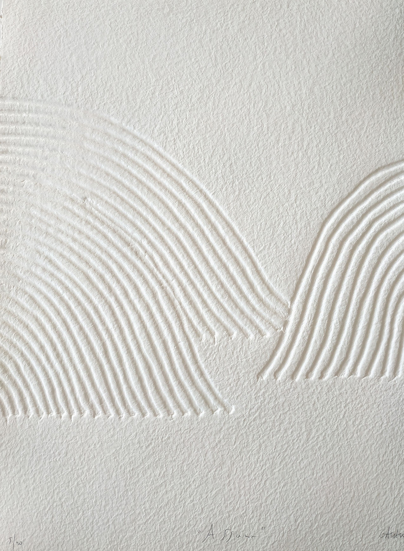 Assana Papierreliefabdruck, 20 Ex., 77 x 56 cm, verso sign. & num.
