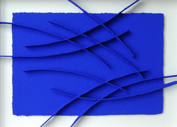 Calicots et Pigments #24 handgeschöpftes Papier, Pigmente 66 x 86 cm - verkauft