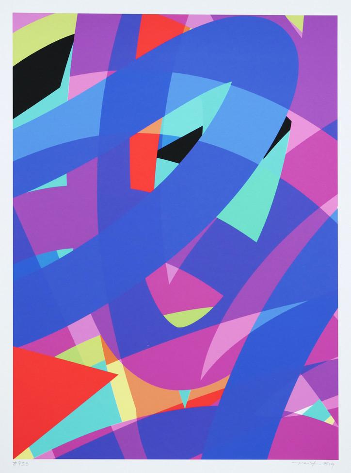 Peer Kriesel FRTZNABSTRCTN No 439 2019 Pigmentdruck auf Papier 36 x 26 cm