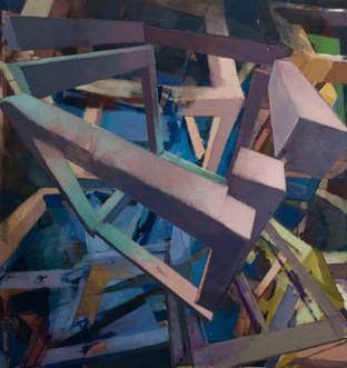 Influence 2019 Eitempera, Öl und Pigmente auf Leinwand 140 x 150 cm