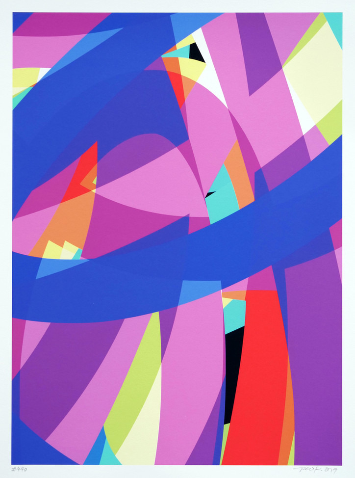 Peer Kriesel FRTZNABSTRCTN No 440 2019 Pigmentdruck auf Papier 36 x 26 cm