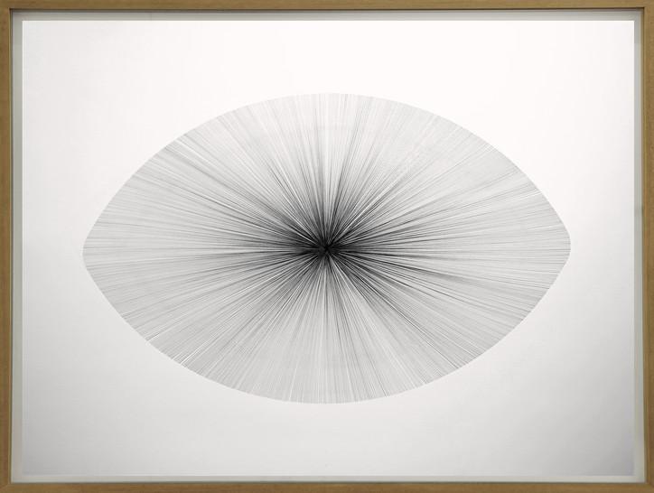 John Franzen Each Line one Breath Sphere 2017 Fineliner auf Papier 122 x 162 cm