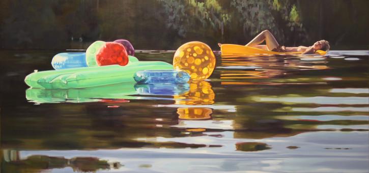 Cameron Rudd o.T. 2018 Öl auf Leinwand 130 x 270 cm - verkauft -