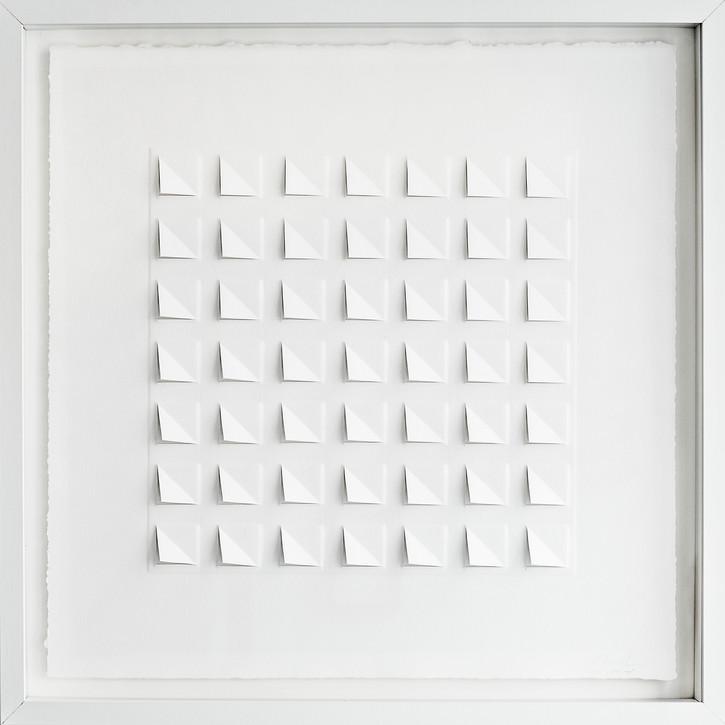 Ralph Kerstner Wake Up 2015 Prägung in Büttenpapier 50 x 50 cm