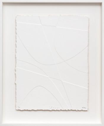 René Galassi Soam 2019 Prägedruck auf handgeschöpftem Papier 20 Ex. 87 x 72 cm