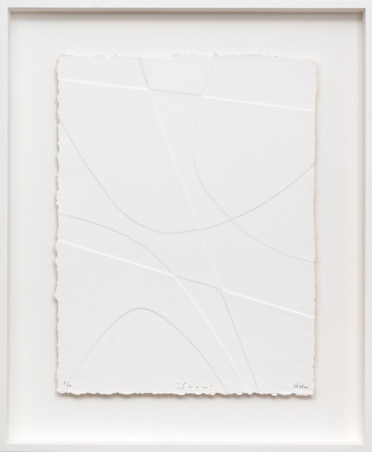 Lignes géometriques - Soam 2019 Prägedruck auf handgeschöpftem Papier 20 Ex. 87 x 72 cm - verkauft