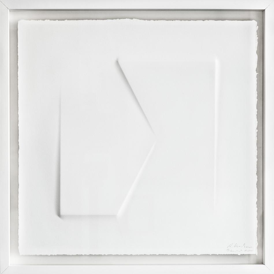 Ralph Kerstner Kerstin 2015 Prägung in Büttenpapier 50 x 50 cm