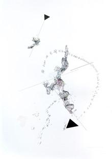 Peer Kriesel Hochkonjunktur 2020 Mischtechnik auf Papier 100 x 70 cm