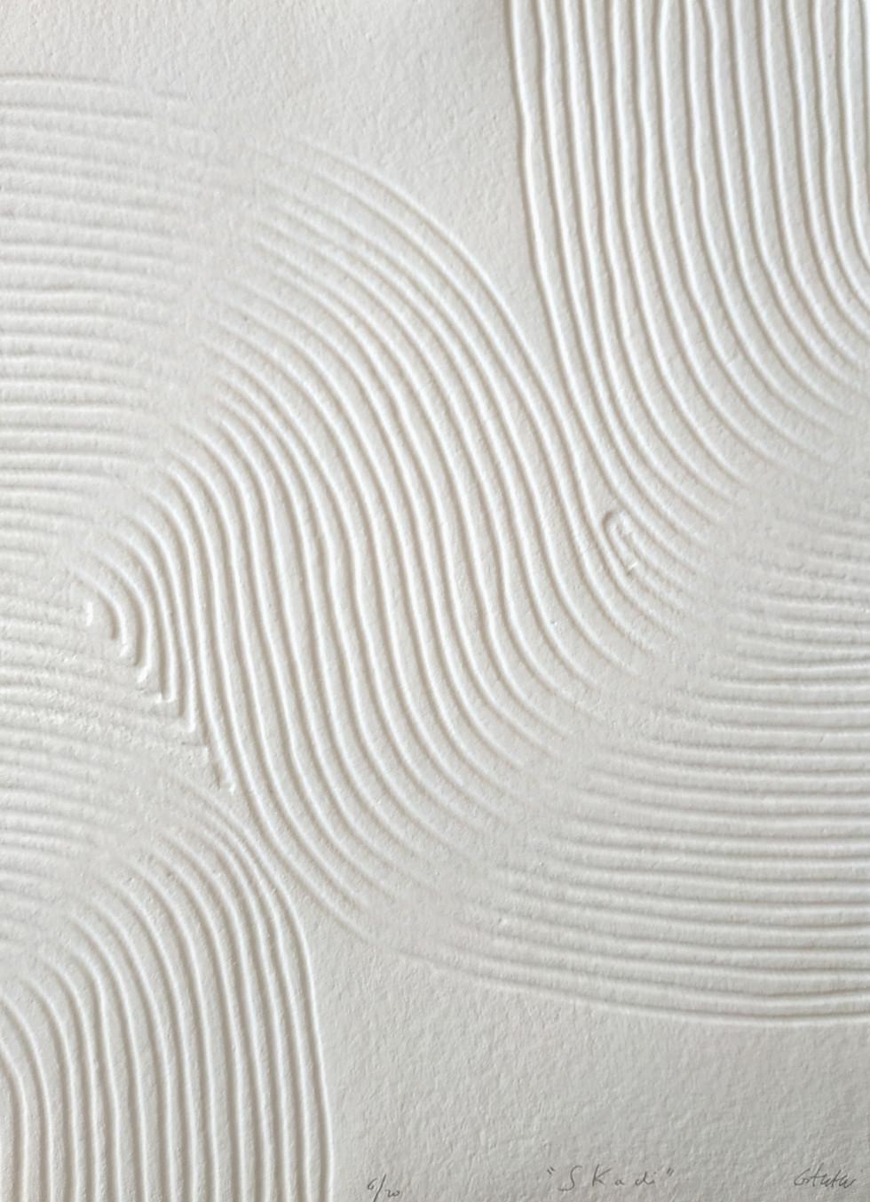 Skadi Papierreliefabdruck, 20 Ex., 77 x 56 cm, verso sign. & num.